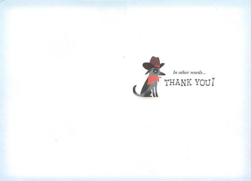 Many Languages Dogs Thank-You Card,