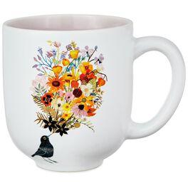 Bird With Bouquet Mug, , large