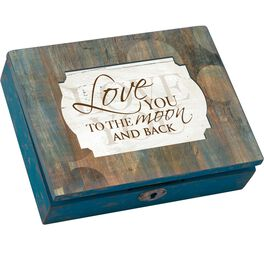 "Cottage Garden ""Moon & Back"" Bubble Decoupage Distressed Music Box, , large"