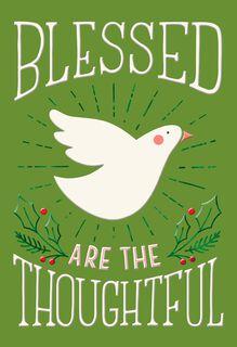 White Dove Thank You Christmas Card,
