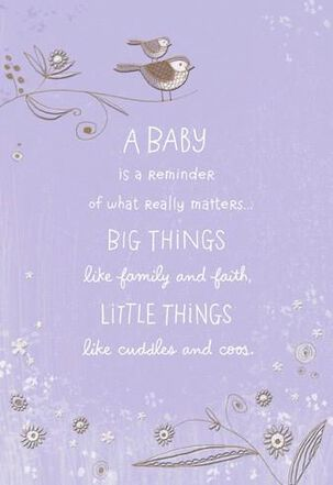 Cuddles and Coos New Baby Card