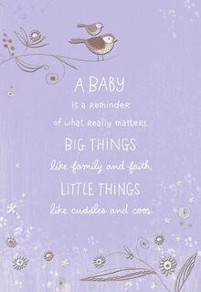 Cuddles and Coos New Baby Card,