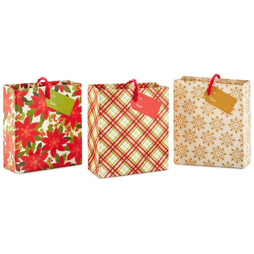 Red and Gold 3-Pack Christmas Gift Card Holder Mini Bags, 4.5 ...