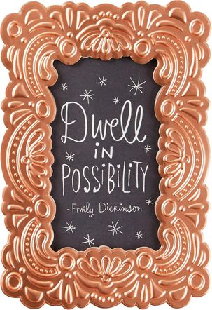 Dwell in Possibility Picture Frame Birthday Card