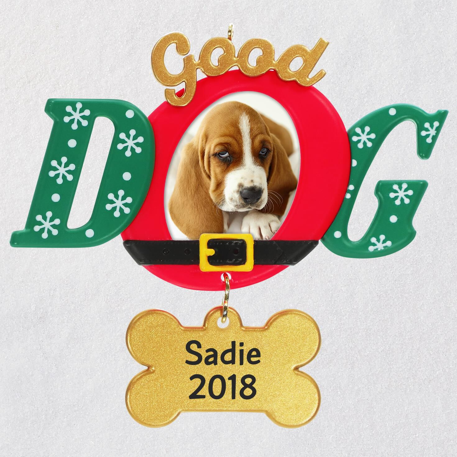 Good Dog Photo Frame Personalized Ornament - Personalized Ornaments ...
