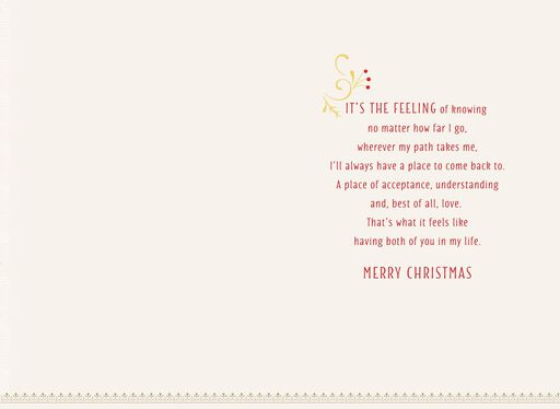 Home Is Where the Heart Is Christmas Card for Parents,