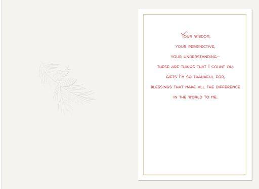 Celebrating Goodness Christmas Card for Parents,