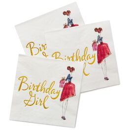 Birthday Girl Cocktail Napkins, Pack of 16, , large