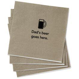 Dad's Beer Beverage Napkins, Pack of 20, , large