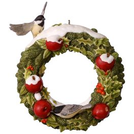 Marjolein's Garden Welcoming Wreath Ornament, , large