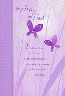 Butterflies and Diamonds for Mom and Dad Easter Card,