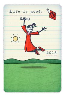 Life is Good® Excited Grad 2018 Graduation Card,