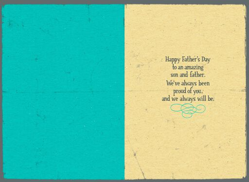 Mickey Mouse So Proud Father's Day Card for Son,