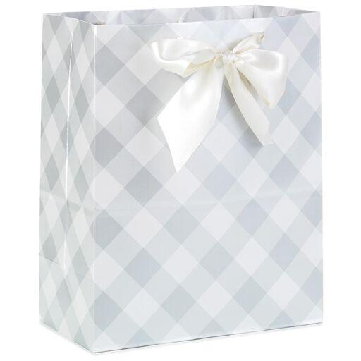 Gray Checks Large Gift Bag 13