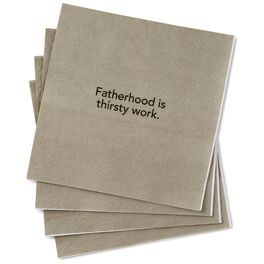 Fatherhood Is Thirsty Work Beverage Napkins, Pack of 20, , large