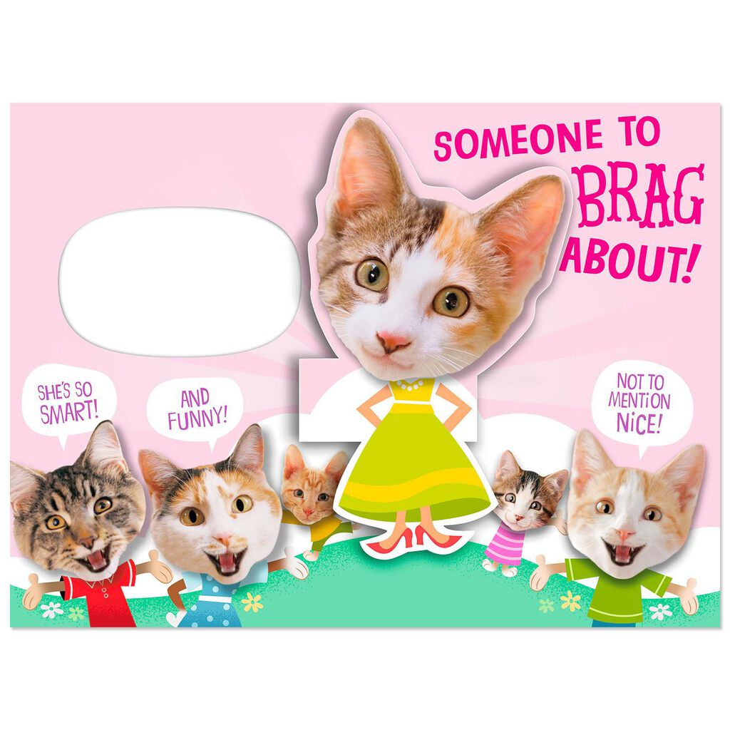 Bragging Cats Funny Pop Up Birthday Card For Niece