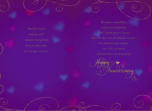 Thanks To You Wife Anniversary Card,
