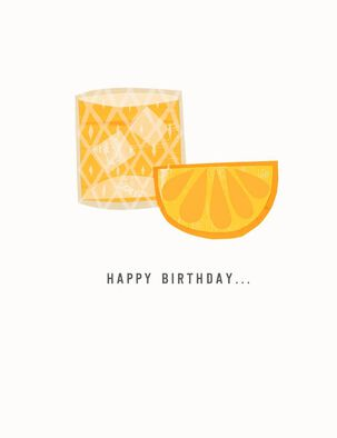 Cocktail On the Rocks Birthday Card