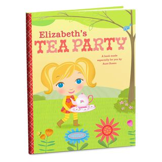 Tea Party Personalized Book,
