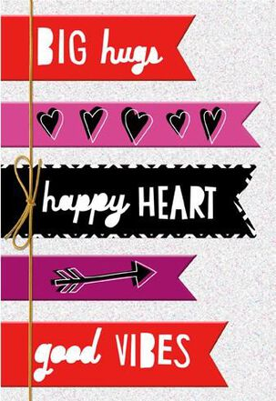 Colored Banners Friend Valentine's Day Card