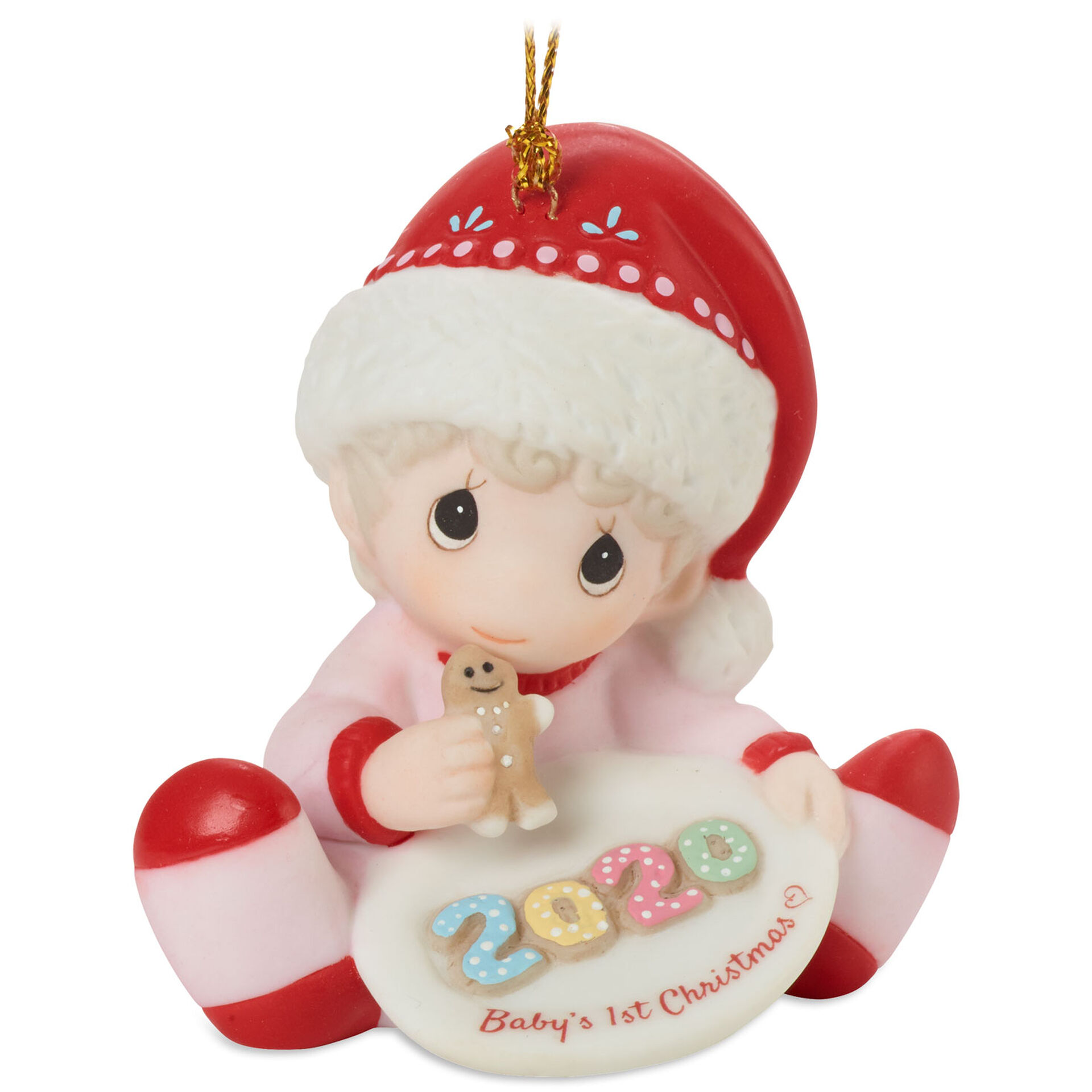 Precious Moments Baby's First Christmas 2020 Girl Ornament, 2.75