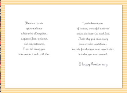 Majestic Blooms Anniversary Card for Sister and Brother-in