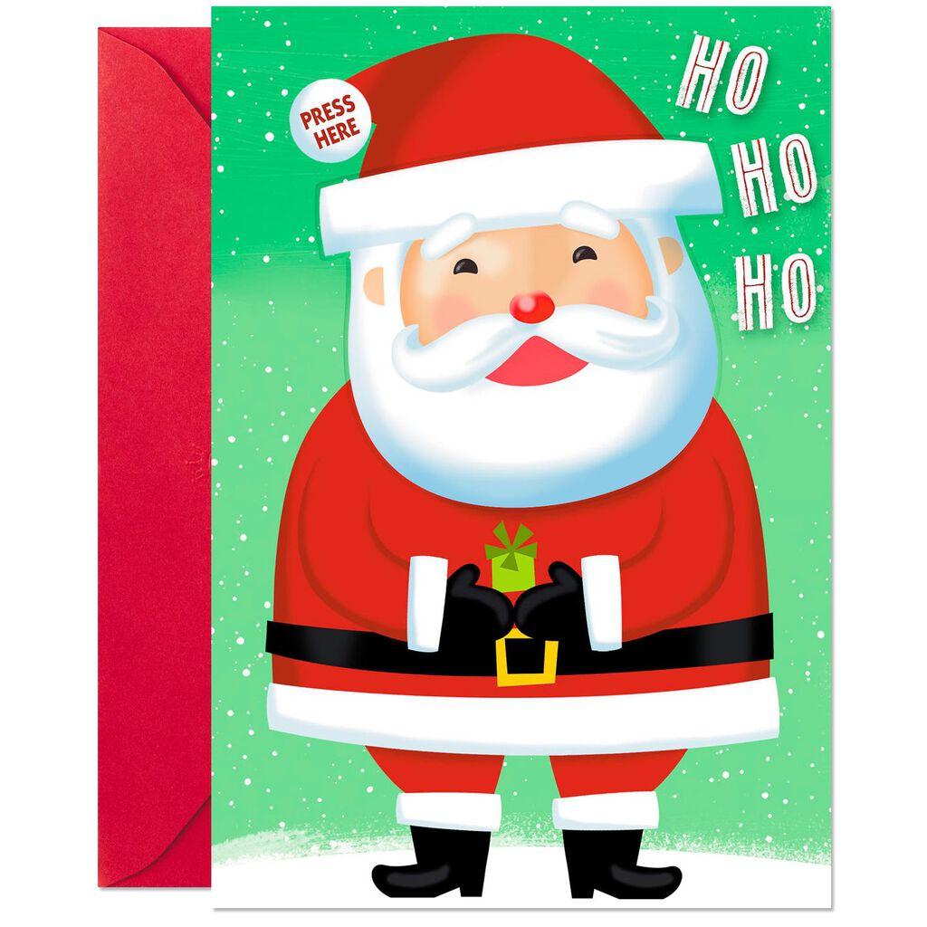 Ho Ho Ho Christmas Card With Sound and Light - Greeting Cards - Hallmark