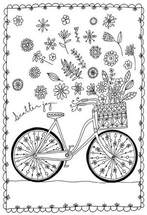 Scatter Joy Just Because Coloring Card