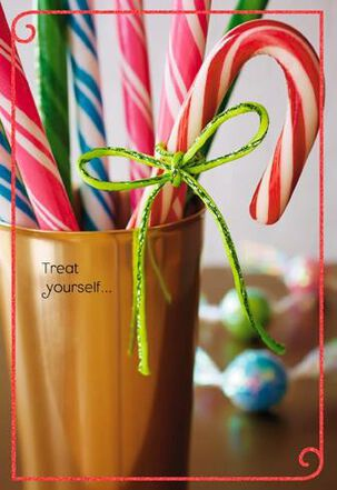 Candy Canes Christmas Card