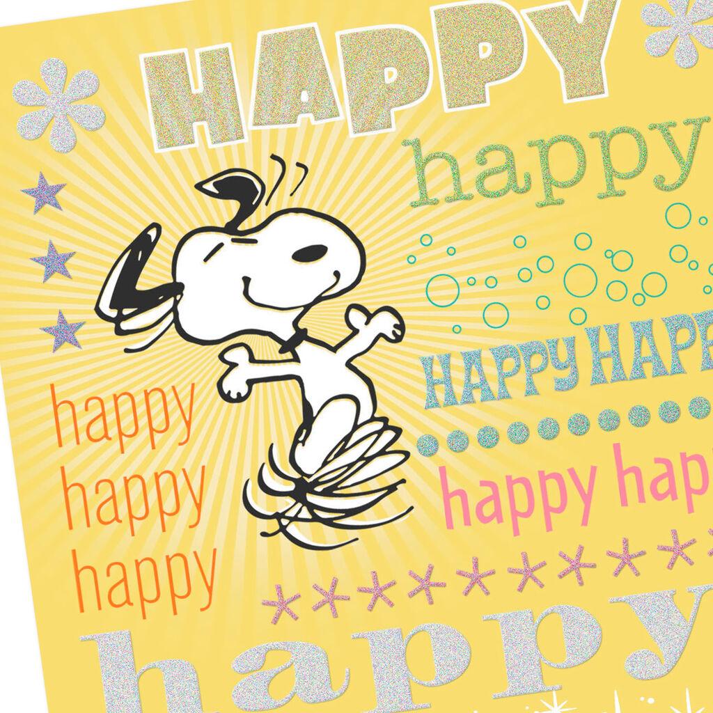 Snoopy Happy Birthday Card