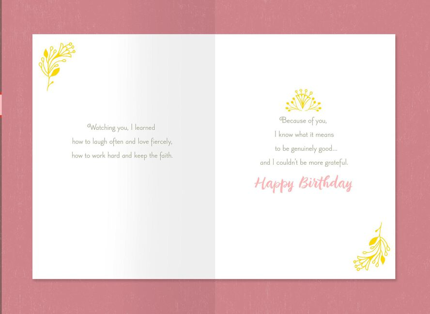 Lifes Most Important Lessons Birthday Card For Mom Greeting Cards