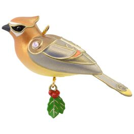 Cedar Waxwing Mini Ornament, , large