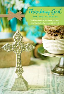 Thanking God for You Religious Easter Card for Clergy,