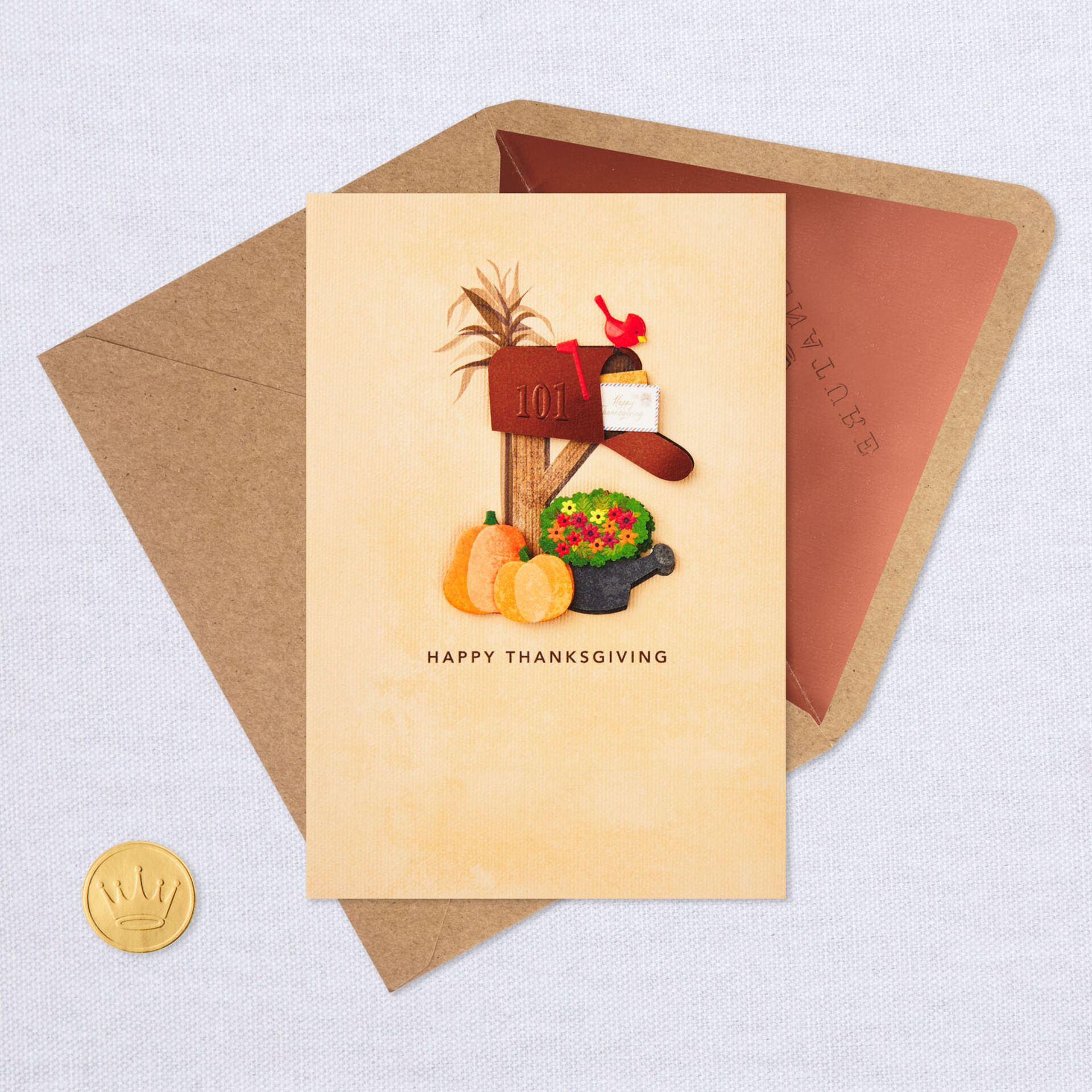 Across The Miles Mailbox Thanksgiving Card Greeting Cards Hallmark