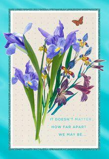 No Matter How Far Iris Easter Card,