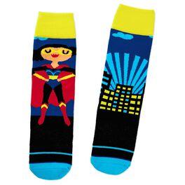 Superwoman Toe of a Kind Socks, , large