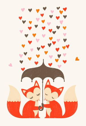 Fox Love Valentine's Day Card for Husband