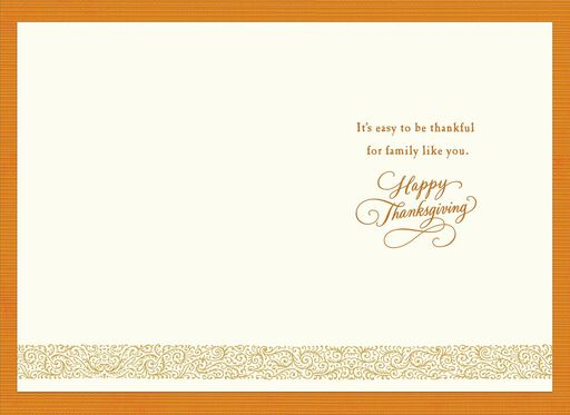 Family Like You Thanksgiving Card,