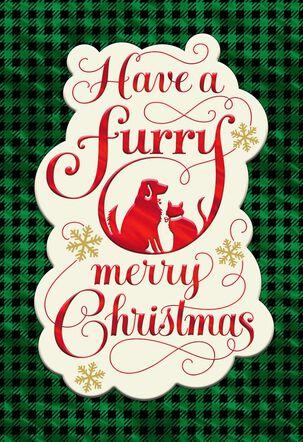Furry Merry Christmas Card for Pet Caregiver