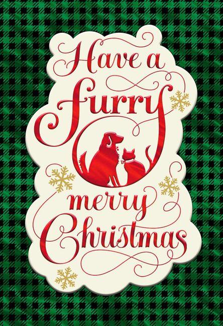 furry merry christmas card for pet caregiver - Christmas Furry