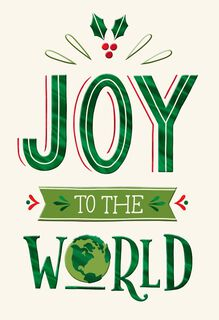 Joy to the World Christmas Card,
