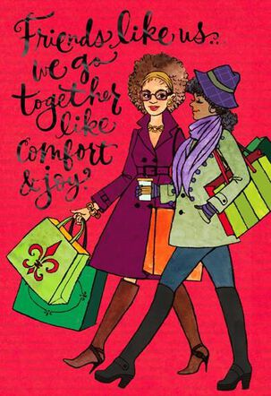 Comfort & Joy Best Friend Christmas Card