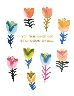 Tulips You're One of the Good Ones Blank Thank You Card,