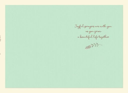 Joyful Prayers Wedding Card,