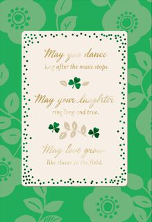 May You Dance, Laugh and Love St. Patrick's Day Card,