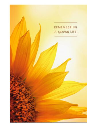 Sunflower and Sunlight Sympathy Card