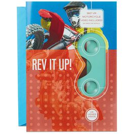 Rev It Up! Motocross VR Father's Day Card, , large