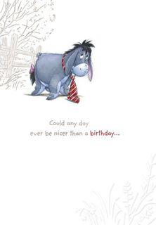 Nicer than You Eeyore Birthday Card,
