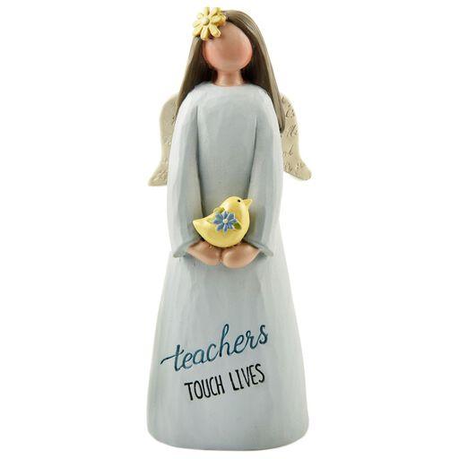 Teacher appreciation cards and gifts hallmark teachers touch lives angel figurine negle Gallery