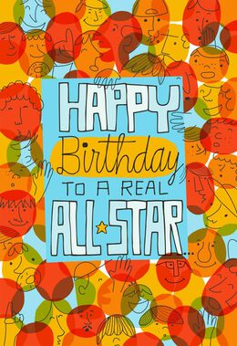 All Star Pop Up Musical Birthday Card